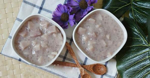 Cách nấu chè khoai sọ dẻo với nếp hay nước cốt dừa thơm ngon ngọt bùi